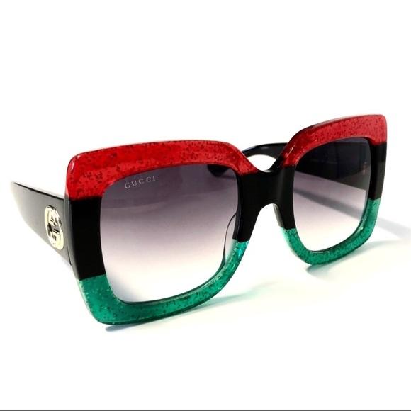 03aaedec9292 Gucci Accessories | Glittered Gradient Oversized Sunglasses | Poshmark